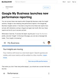 Google My Business launches new performance reporting
