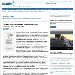 Do WA's High-Performance Buildings Perform? | Energy: Strategies, Policy & Best Practices for the Northwest