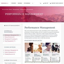 Performance Management Training - BusinessBalls.com
