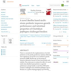 Poultry Science Volume 99, Issue 1, January 2020, A novel Bacillus based multi-strain probiotic improves growth performance and intestinal properties of Clostridium perfringens challenged broilers