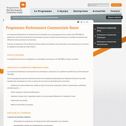 Programme Performance Commerciale Bases