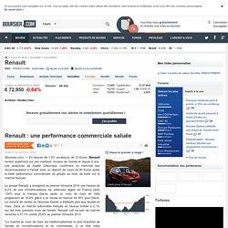 Renault : une performance commerciale saluée