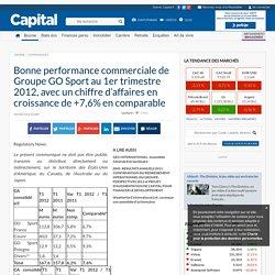 Bonne performance commerciale de Groupe GO Sport au 1er trimestre 2012, avec un chiffre d'affaires en croissance de +7,6% en comparable - Communiqués - Bourse