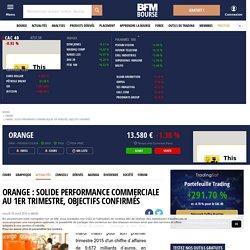 Orange : Solide performance commerciale au 1er trimestre, objectifs confirmés