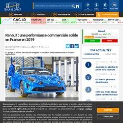 Renault : une performance commerciale solide en France en 2019