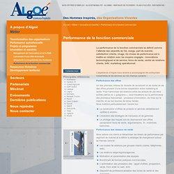 Performance de la fonction commerciale : ALGOE Consultants - Innovation et marchés, Métier