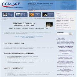 STRATEGIE D'ENTREPRISE DU PROJET A L'ACTION - Com-Ace Nantes Conseil Stratégie et Performance Commerciale