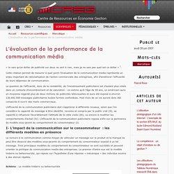 L'évaluation de la performance de la communication média