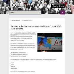 Devoxx – Performance comparison of Java Web frameworks