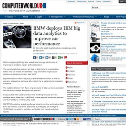BMW deploys IBM big data analytics to improve car performance