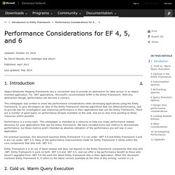 Performance Considerations for EF 4, 5, and 6