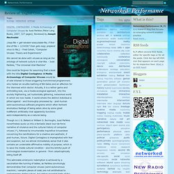 "Review of ""Digital Contagions"" by Joseph Nechvatal"