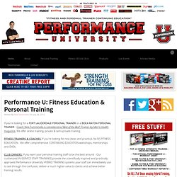 Performance U. Personal Trainer Continuing Education | Nick Tumminello Fitness