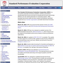 SPEC - Standard Performance Evaluation Corporation