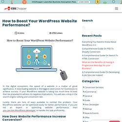 How to Boost Your WordPress Website Performance?