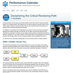 Deciphering the Critical Rendering Path