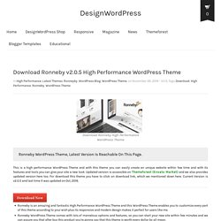 Download Ronneby v2.0.5 High Performance WordPress Theme - DesignWordPress