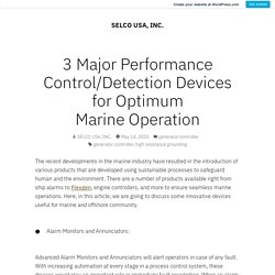 Find the Best 3 Major Performance Control/Fault Detection Devices