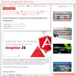 Essential tips to improve the performance of AngularJS