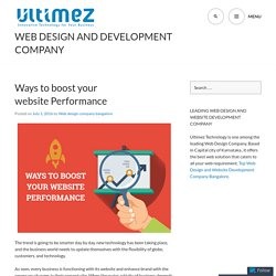 Ways to boost your website Performance