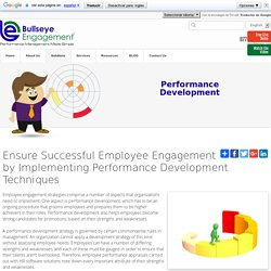 Employee Performance Development Solutions, Strategy - Appraisals Software