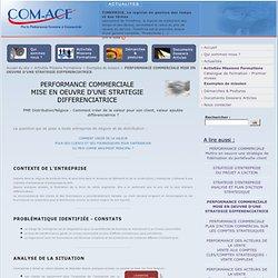 PERFORMANCE COMMERCIALE MISE EN OEUVRE D'UNE STRATEGIE DIFFERENCIATRICE - Com-Ace Nantes Conseil Stratégie et Performance Commerciale