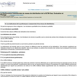 La Performance Commerciale du reseau de distribution de la SCTM Gaz: Evaluation et Pilotage - Jourdain KENGNE OUABO