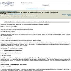 La Performance Commerciale du reseau de distribution de la SCTM Gaz: Evaluation et Pilotage - Jourdain KENGNE OUABO