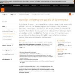 Performance sociale / concilier performance sociale et économique