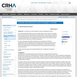 La diversité, levier de performance humaine et économique : le cas l'Oréal (70468)