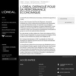L'Oréal distingué pour sa performance économique
