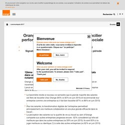 Orange poursuit son action pour concilier performance économique et qualité sociale - orange.com