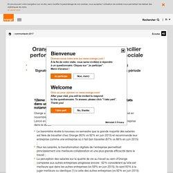 Orange poursuit son action pour concilier performance économique et qualité sociale - orange.com