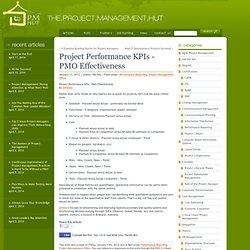 Project Performance KPIs - PMO Effectiveness - PM Hut - Waterfox