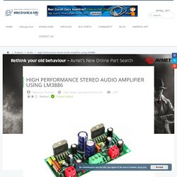 High Performance Stereo Audio Amplifier using LM3886 - Electronics-Lab