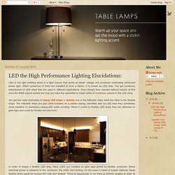 Cheap Table Lamps Sydney: LED the High Performance Lighting Elucidations: