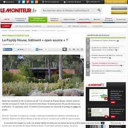 La PopUp House, bâtiment « open source » ? - Performance énergétique
