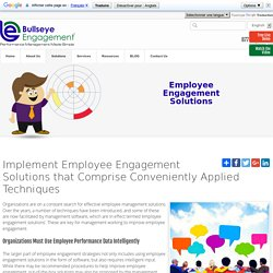 Employee Performance Engagement Solutions, strategies and software