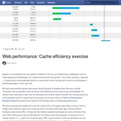 Web performance: Cache efficiency exercise