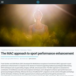 The MAC approach to sport performance enhancement · The UK's leading Sports Psychology Website