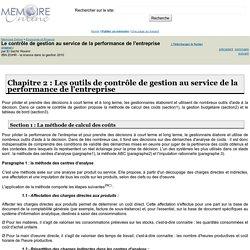 Le contrôle de gestion au service de la performance de l'entreprise - El bachir Rouimi