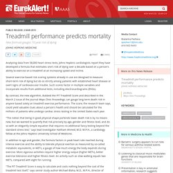 Treadmill performance predicts mortality