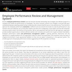 Hire Best Employee Performance Review and Management System Services