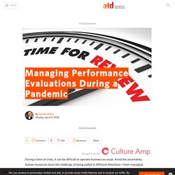 Managing Performance Evaluations During a Pandemic