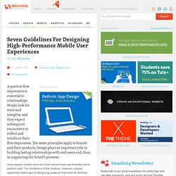 Seven Guidelines For Designing High-Performance Mobile User Experiences - Smashing Magazine