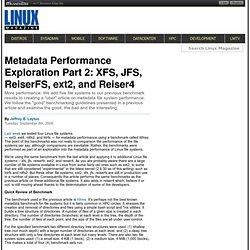 Metadata Performance Exploration Part 2: XFS, JFS, ReiserFS, ext