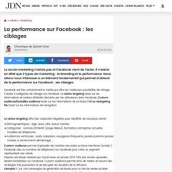 La performance sur Facebook: les ciblages