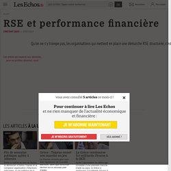 RSE et performance financière - Les Echos