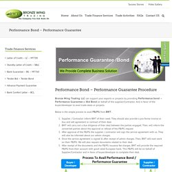 Performance Bond - Performance Guarantee