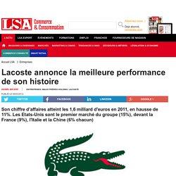 Lacoste annonce la meilleure performance de... - Textile, habillement